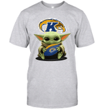 Baby Yoda Hug Kent State Golden Flashes The Mandalorian T-Shirt
