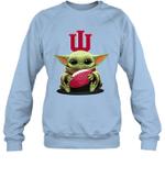 Baby Yoda Hug Indiana Hoosiers The Mandalorian Sweatshirt