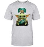 Baby Yoda Hug Ohio Bobcats The Mandalorian T-Shirt