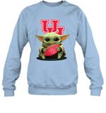 Baby Yoda Hug Houston Cougars The Mandalorian Sweatshirt
