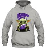 Baby Yoda Hug Kansas State Wildcats The Mandalorian Hoodie