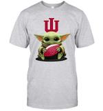 Baby Yoda Hug Indiana Hoosiers The Mandalorian T-Shirt