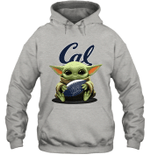Baby Yoda Hug California Golden Bears The Mandalorian Hoodie
