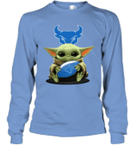 Baby Yoda Hug Buffalo Bulls The Mandalorian Long Sleeve T-Shirt