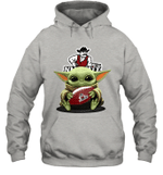 Baby Yoda Hug New Mexico State Aggies The Mandalorian Hoodie