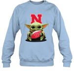 Baby Yoda Hug Nebraska Cornhuskers The Mandalorian Sweatshirt