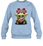 Baby Yoda Hug Mississippi State Bulldogs The Mandalorian Sweatshirt