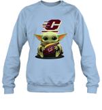 Baby Yoda Hug Central Michigan Chippewas The Mandalorian Sweatshirt