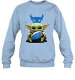 Baby Yoda Hug Buffalo Bulls The Mandalorian Sweatshirt