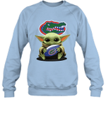 Baby Yoda Hug Florida Gators The Mandalorian Sweatshirt