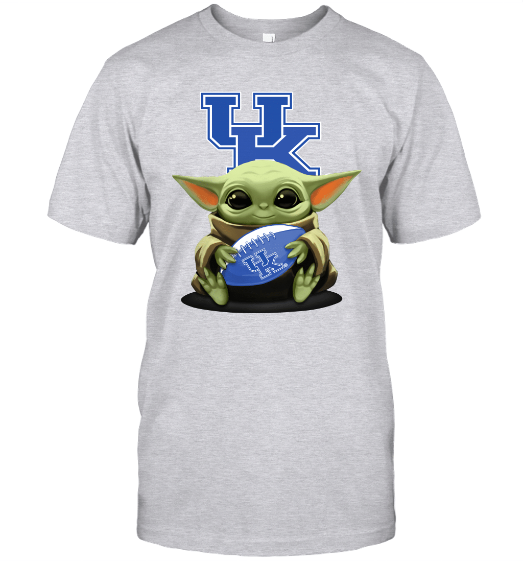 Baby Yoda Hug Kentucky Wildcats The Mandalorian T-Shirt