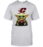 Baby Yoda Hug Central Michigan Chippewas The Mandalorian T-Shirt
