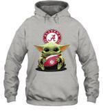 Baby Yoda Hug Alabama Crimson Tide The Mandalorian Hoodie