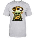 Baby Yoda Hug Missouri Tigers The Mandalorian T-Shirt