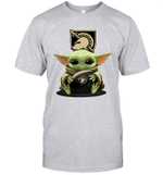 Baby Yoda Hug Army Black Knights The Mandalorian T-Shirt