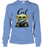 Baby Yoda Hug California Golden Bears The Mandalorian Long Sleeve T-Shirt