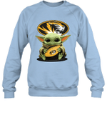 Baby Yoda Hug Missouri Tigers The Mandalorian Sweatshirt