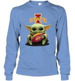Baby Yoda Hug Iowa State Cyclones The Mandalorian Long Sleeve T-Shirt