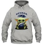 Baby Yoda Hug Nevada Wolf Pack The Mandalorian Hoodie