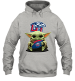 Baby Yoda Hug Liberty Flames The Mandalorian Hoodie