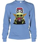 Baby Yoda Hug New Mexico Lobos The Mandalorian Long Sleeve T-Shirt