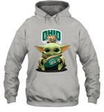 Baby Yoda Hug Ohio Bobcats The Mandalorian Hoodie