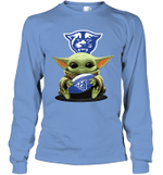 Baby Yoda Hug Georgia State Panthers The Mandalorian Long Sleeve T-Shirt