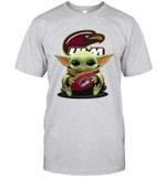 Baby Yoda Hug Louisiana Monroe Warhawks The Mandalorian T-Shirt
