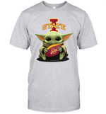 Baby Yoda Hug Iowa State Cyclones The Mandalorian T-Shirt