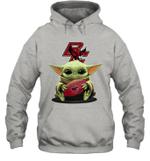 Baby Yoda Hug Boston College Eagles The Mandalorian Hoodie