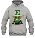 Baby Yoda Hug Eastern Michigan Eagles The Mandalorian Hoodie