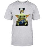 Baby Yoda Hug FIU Panthers The Mandalorian T-Shirt
