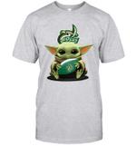 Baby Yoda Hug Charlotte 49ers The Mandalorian T-Shirt