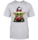 Baby Yoda Hug Northern Illinois Huskies The Mandalorian T-Shirt