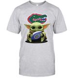 Baby Yoda Hug Florida Gators The Mandalorian T-Shirt