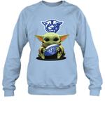 Baby Yoda Hug Georgia State Panthers The Mandalorian Sweatshirt