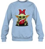 Baby Yoda Hug Miami Redhawks The Mandalorian Sweatshirt