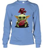 Baby Yoda Hug Boston College Eagles The Mandalorian Long Sleeve T-Shirt