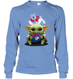 Baby Yoda Hug Fresno State Bulldogs The Mandalorian Long Sleeve T-Shirt