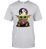 Baby Yoda Hug Florida State Seminoles The Mandalorian T-Shirt