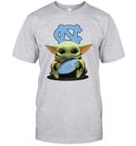 Baby Yoda Hug North Carolina Tar Heels The Mandalorian T-Shirt