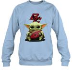 Baby Yoda Hug Boston College Eagles The Mandalorian Sweatshirt