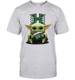 Baby Yoda Hug Hawaii Rainbow The Mandalorian T-Shirt