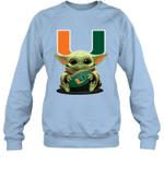 Baby Yoda Hug Miami Hurricanes The Mandalorian Sweatshirt