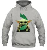 Baby Yoda Hug North Texas Mean Green The Mandalorian Hoodie