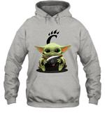 Baby Yoda Hug Cincinnati Bearcats The Mandalorian Hoodie
