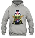 Baby Yoda Hug Arizona Wildcats The Mandalorian Hoodie