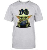 Baby Yoda Hug Notre Dame Fighting Irish The Mandalorian T-Shirt