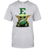 Baby Yoda Hug Eastern Michigan Eagles The Mandalorian T-Shirt
