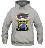 Baby Yoda Hug Florida Gators The Mandalorian Hoodie